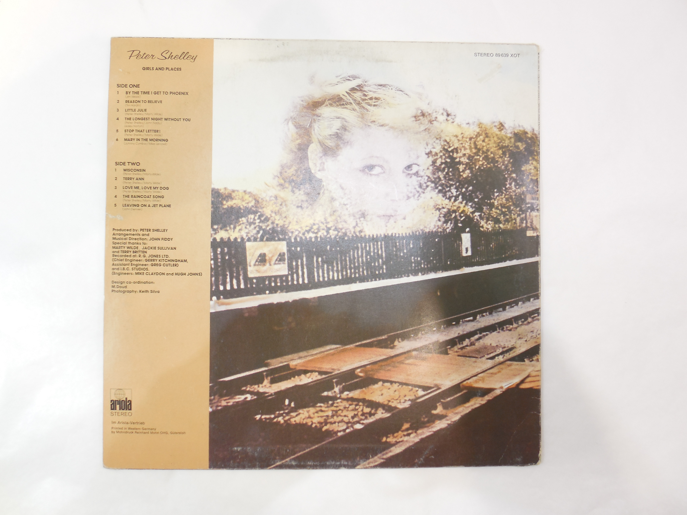 Пластинка Peter Shelley ‎– Girls And Places - Pic n 278218