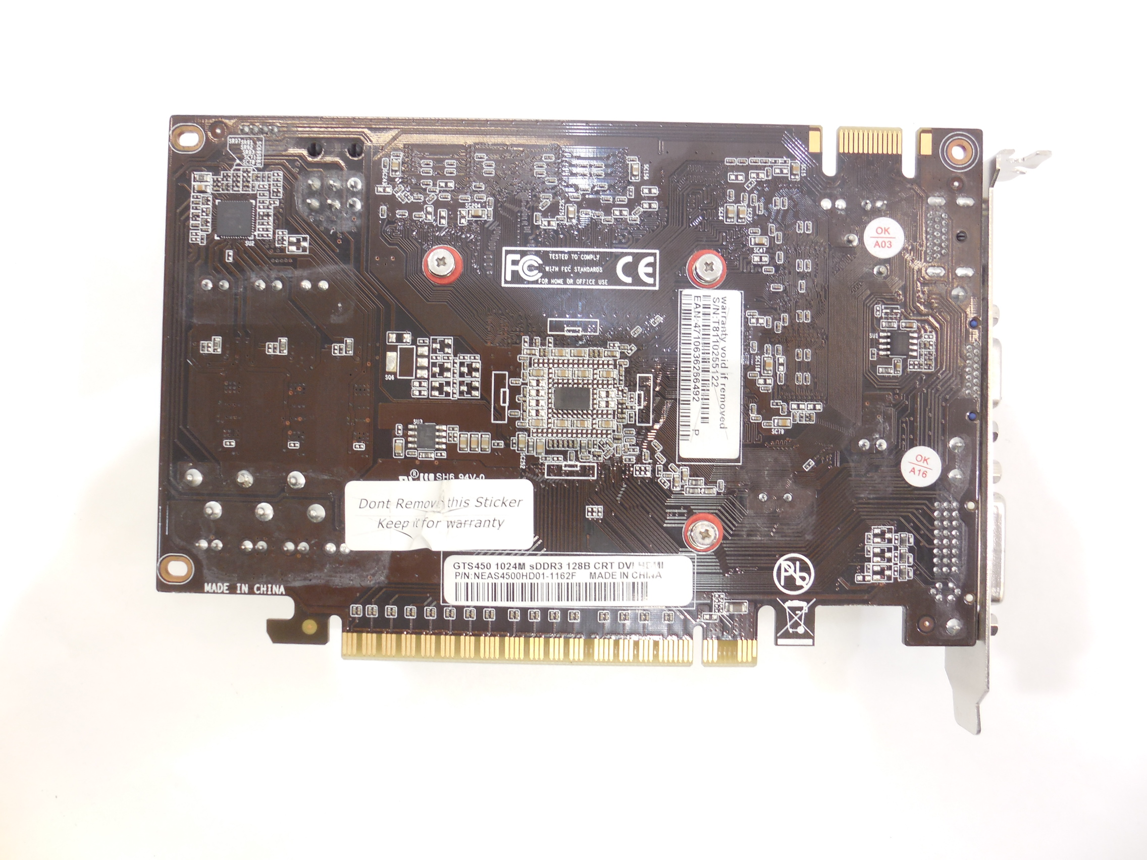 Видеокарта Palit GeForce GTS450 1Gb - Pic n 248488