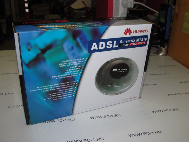 ADSL-модем Huawei SmartAX MT810-ADSL /маршутизатор, Ethernet 10/100 Base-T, USB /ADSL splitter /НОВЫЙ