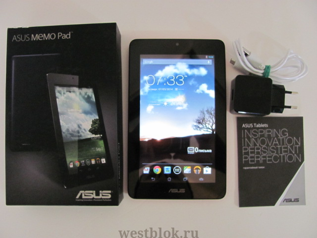 Отзывы О 753540 Планшетный Компьютер Asus Memo Pad Me172V 16Gb Wi-Fi Android 4.0 Белый 90Ok0Wb1102140U