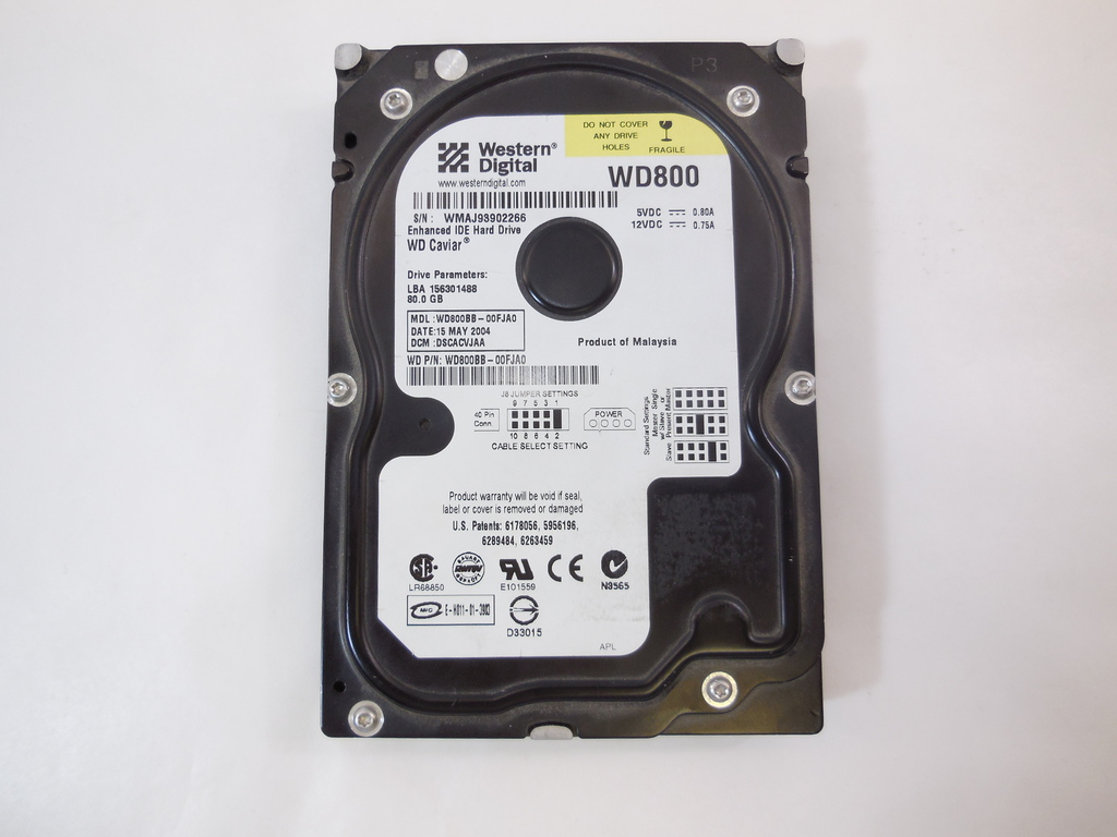 Жесткий Диск HDD IDE 80Gb Western Digital WD800 - Pic n 273012
